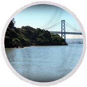 San Francisco Bay Bridge Round Beach Towel