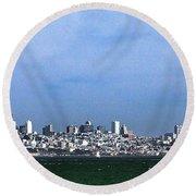 San Francisco Bay Round Beach Towel