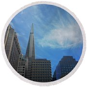 San Francisco Cityscape Round Beach Towel