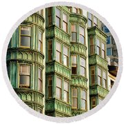 San Francisco Color Round Beach Towel