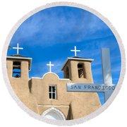 San Francisco De Asis Mission Church Round Beach Towel