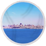 San Francisco Downtown Skyline Round Beach Towel