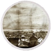 San Francisco, From Clay Street, 1855 Round Beach Towel