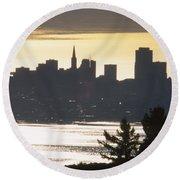 San Francisco - From Tamalpais East Round Beach Towel