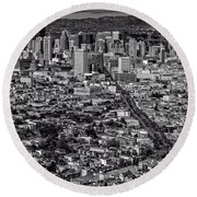 San Francisco From Twin Peaks Round Beach Towel