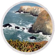 Marin Headlands Bunker Round Beach Towel