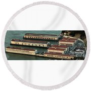 San Francisco International Arts Festival At Fort Mason Center In San Francisco Round Beach Towel