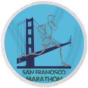 San Francisco Marathon2 Round Beach Towel