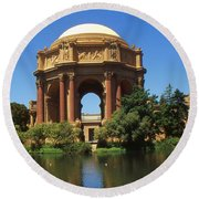 San Francisco - Palace Of Fine Arts Round Beach Towel