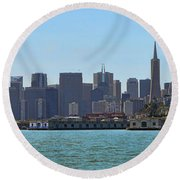 San Francisco Skyline -1 Round Beach Towel