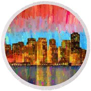 San Francisco Skyline 11 - Pa Round Beach Towel