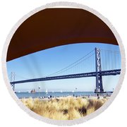 San Francisco Sunday Strollers  Round Beach Towel