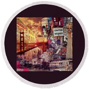 San Francisco Round Beach Towel