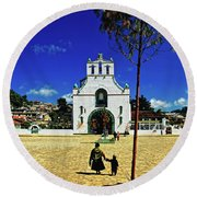 San Juan Chamula Church In Chiapas, Mexico Round Beach Towel