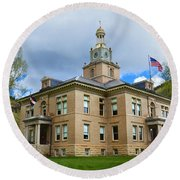 San Juan County Courthouse Round Beach Towel