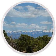 San Juan Mountains Round Beach Towel
