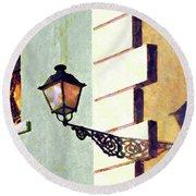 San Juan Street Lamp Round Beach Towel