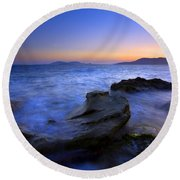 San Juan Sunset Round Beach Towel
