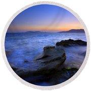 San Juan Sunset Round Beach Towel by Mike  Dawson