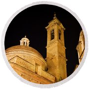 San Lorenzo Chruch Florence Italy Round Beach Towel