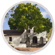 San Luis Mission Round Beach Towel