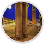 San Marco At Night Round Beach Towel