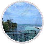 San Pedro Belize Round Beach Towel