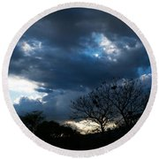 San Salvador Sunset 4 Round Beach Towel