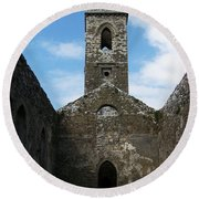 Sanctuary Fuerty Church Roscommon Ireland Round Beach Towel