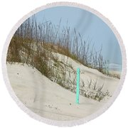 Sand And Grass Round Beach Towel