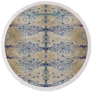 Sand And Parchment Round Beach Towel