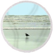 Sand And Sea 8 Round Beach Towel