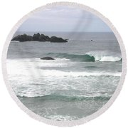Sand And Sea 9 Round Beach Towel
