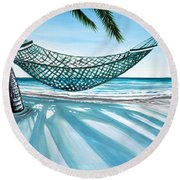 Sand And Shadows Round Beach Towel