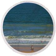 Sand And Surf Round Beach Towel