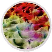 Sand Art Abstract Round Beach Towel