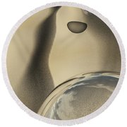 Sand Bubbles Round Beach Towel
