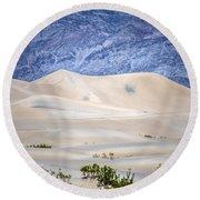Sand Desert Usa Round Beach Towel