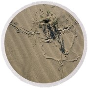 Sand Doodles Round Beach Towel