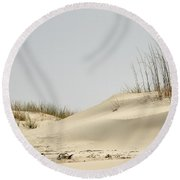 Sand Dunes And Sea Oats Round Beach Towel