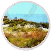 Sand Dunes Assateague Island Round Beach Towel