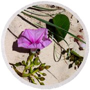 Sand Flowers Round Beach Towel