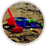 Sand Fun 1 Round Beach Towel