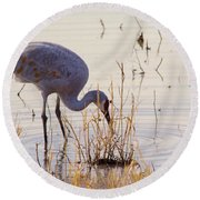 Sand Hill On The Shores Round Beach Towel