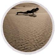 Sand Plank Round Beach Towel