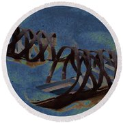 Sand Shoes II Round Beach Towel