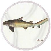 Sand Tiger Shark Round Beach Towel