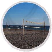 Sand Volleyball Round Beach Towel