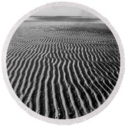 Sandbar Patterns Round Beach Towel