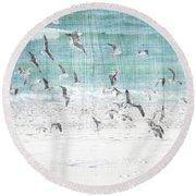 Sandestin Seagulls E Round Beach Towel